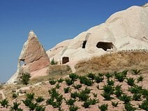Photo d'une construction troglodytique en Cappadoce.